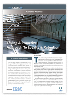 Customer Analytics: Taking a Proactive Approach to Loyalty & Retention